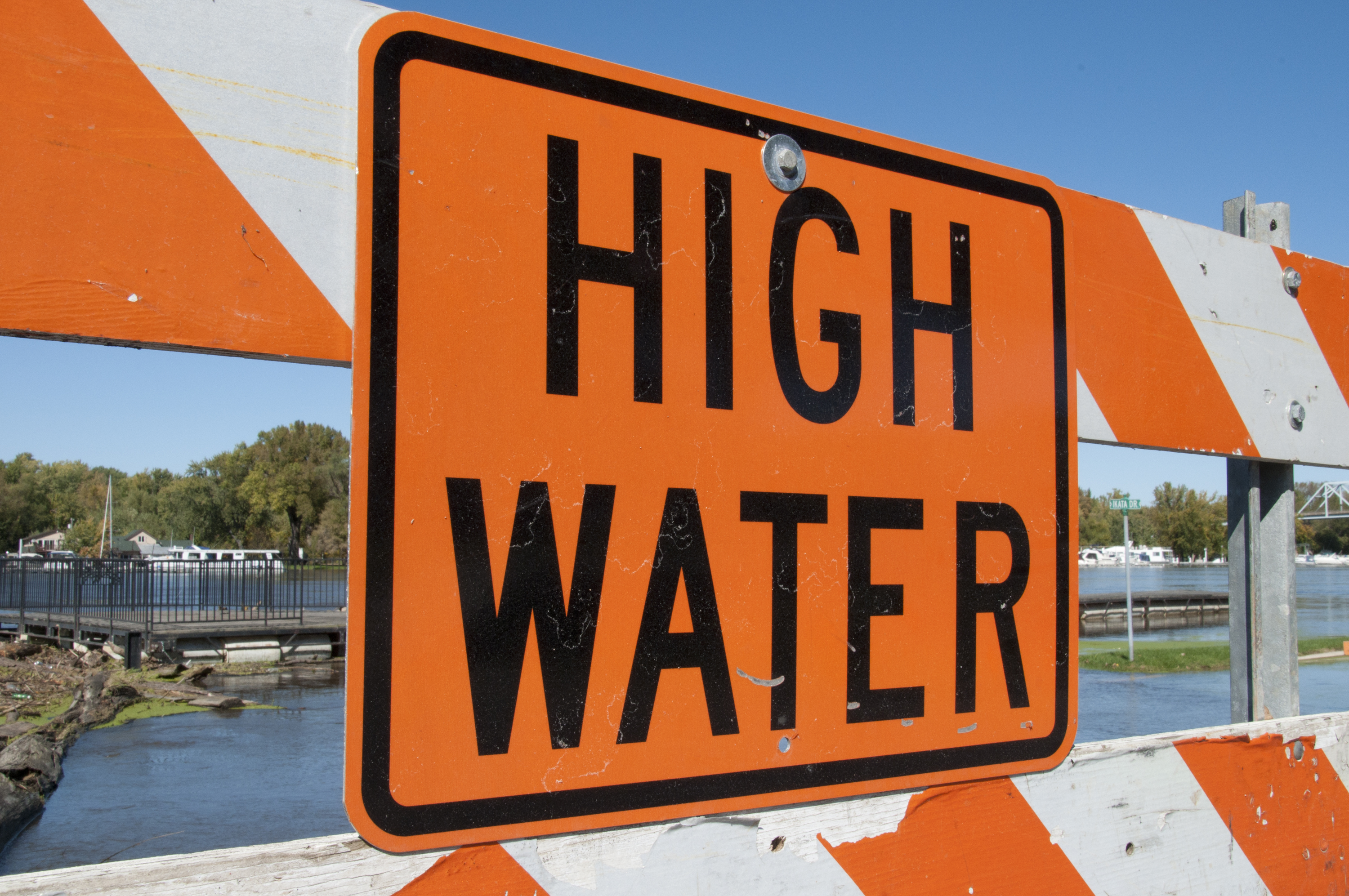 High Water Sign
